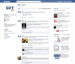 Facebook GVT com a nova logo
