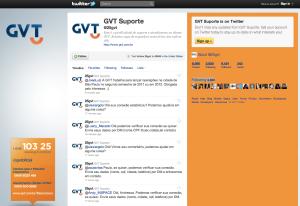 Twitter GVT com a nova logo aplicada